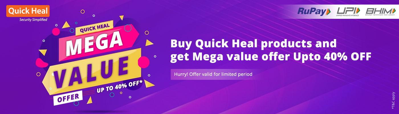 Quick Heal Mega Value Offer