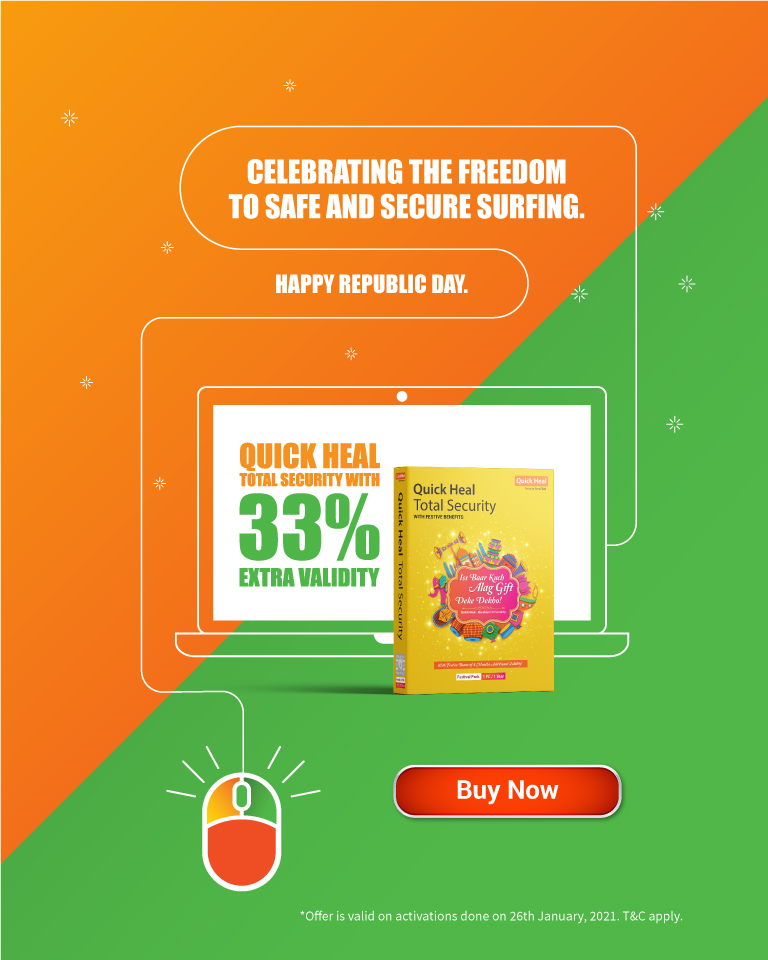 Get 33% extra validity with Quick Heal Festive Pack